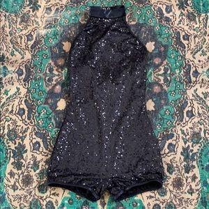 Balera Black Sequins Halter Dance 💃🏻 Leotard